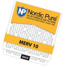 Nordic Pure 20x20x2 MERV 10 Pleated AC Furnace Air Filter,