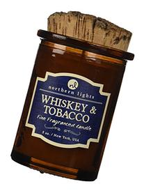 Northern Lights Candles Whiskey and Tobacco Spirit Candle, 5