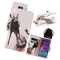 DRUnKQUEEn Note 5 Case, PU Leather Credit Card Holder Case