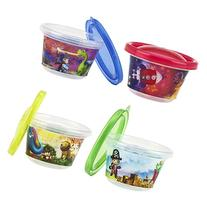 Nuby 4-Pack Stackable Printed Wash or Toss Snack Cups, 4