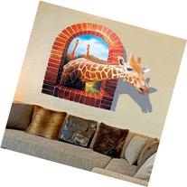 Blazers 18 Wall Decal 3d Cartoon Giraffe Removable Mural