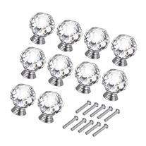 OTTFF 10 Pack 40mm Crystal Cabinet Knob Clear Dresser Knobs