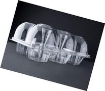 Oasis Supply 6-Compartment Hinged High Dome Clear Cupcake