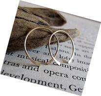 Open Gold Filled Hoop Earrings - Small Handmade Hoops -
