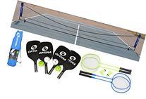 Optima Complete Pickleball, Badminton Portable Net Starter