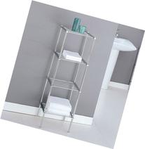 Organize It All 16984w 4 Tier Chrome Finish Metro Bath Shelf