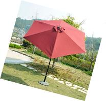Outsunny Outdoor Aluminum Patio Market Umbrella with Tilt, 9