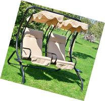 Outsunny Outdoor Garden Patio Covered Double Swing with