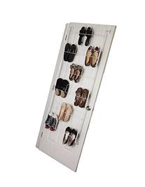 Over the Door Shoe Rack Organizer Holds 18 Pairs of Shoes -