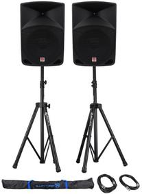 Package:  Rockville RPG15 2,000 Watt 2-Way DJ/PA Powered