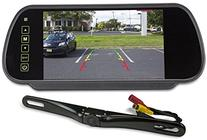 Rockville Black Metal License Plate Bar Type Backup Camera+7