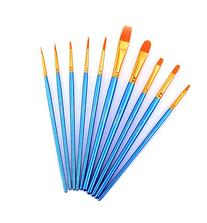 Paint Brush Set Acrylic Xpassion 10pcs Professional Paint