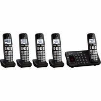 Panasonic KX-TGE245B dect_6.0 5-Handset Landline Telephone