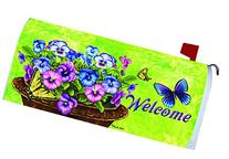 """Pansy Welcome""- Mailbox Makover Cover - Vinyl with Magnetic"