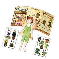 Paper Doll Dress Up Toy Kit, Red Head Boy Fairy Fynn, Press