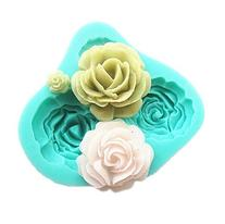 Pard 4 Size Roses Flower Silicone Cake Mold Chocolate