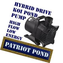 Patriot Koi Pond Pump KP10000 - 10000 GPH Koi Pond &