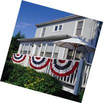 """Patriotic Bunting 2-Sided Pleated Flag 58"""" x 27"""