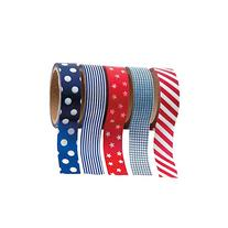 Patriotic Washi Tape Set  Each Roll Includes 16 Ft. Of Tape