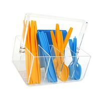Paylak CNT410 Caddy for Utensils Carrier Acrylic- Forks