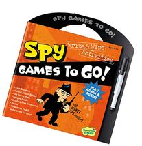 Peaceable Kingdom Secret Spy Write and Wipe Games to Go!