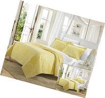 Perfect Home 3 Piece Pastola REVERSIBLE printed Quilt Set.
