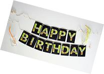 """Personalized Pixelated Mining Theme Party Banner Kit """"Happy"""
