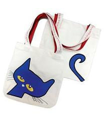 "Pete the Cat Canvas Tote: 15""x17"" Plus Handle"