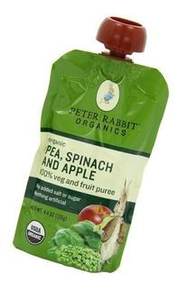 PETER RABBIT BABY PEA SPNCH APPLE ORG, 4.4 OZ
