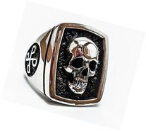 Phantom Skull Ring, 925 Sterling Silver Style Heavy Biker