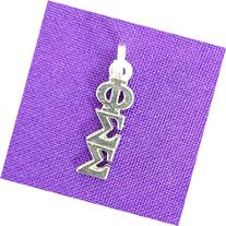 Phi Sigma Sigma Sorority Lavaliere in Sterling Plate