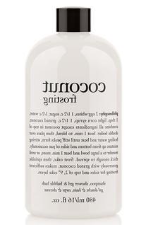 Philosophy 'Coconut Frosting' Shampoo, Shower Gel & Bubble