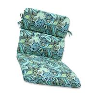 Pillow Perfect Outdoor Pretty Paisley Rounded Corners Chair