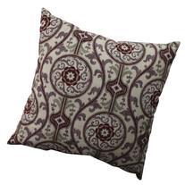 Pillow Perfect Suzani Damask Floor Pillow, 24.5-Inch, Plum