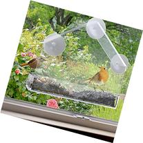 Planet Homeware Window Bird Feeder with Mount Suction Cups,