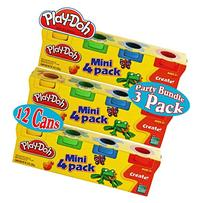 Play-Doh Mini 4-Pack of Colors  Party Favor Bundle  - 3 Pack