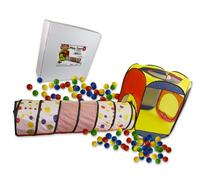 Play Tent with 100 Balls and Tunnel- Indoor and Outdoor Easy