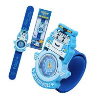 -Robocar Poli one touch jelly watch toy Korea TV Animation