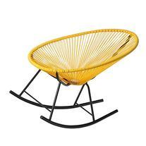 PoliVaz PV-MR-Y Mayan Hammock Acapulco Rocking Chair, Yellow