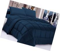 Posh Home Alternative Down Comforter, Full/Queen, Navy