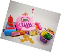 Pretend Play Cash Register with Accessories, Sound, Light,
