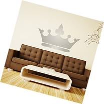 Princess Wall Decals Crown Pink, Gray, Gold, Silver - Home