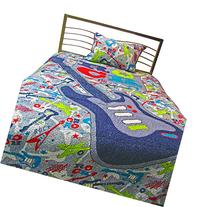 Pur Luxe Boy Zone Quilt Set, Twin