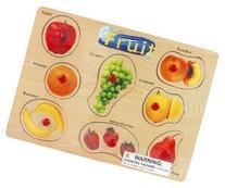 Puzzled Fruit Wooden Peg Puzzle