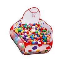 QIYO Foldable Ball Pit Hexagon Polka Dot Play Tent with