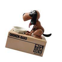 Qiyun Choken Puppy Hungry Eating Dog Coin Bank Money Saving