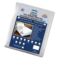 The Allergy  Store Fitted Vinyl Mattress Cover, 6 Gauge, 16