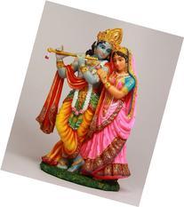 RADHA KRISHNA STATUE AVATAR OF VISHNU AND SHAKTI DIVINE LOVE