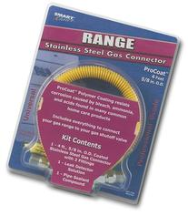 RANGE SAFETY PLUS GAS CONNECTOR 4 FT