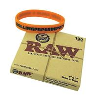 """RAW Rolling Paper """"Parchment Squares"""" 3""""x3"""" 100 Sheet Count"""